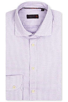 CORNELIANI Woven basketweave shirt