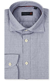 CORNELIANI Cross-pattern cotton shirt
