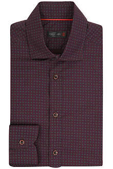 CORNELIANI Single-cuff micro paisley shirt