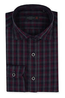 CORNELIANI Slim-fit gingham shirt