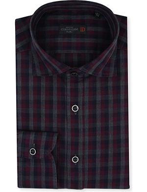 CORNELIANI Slim-fit gingham shirt