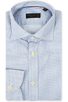 CORNELIANI Geometric print slim-fit shirt