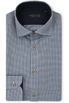 CORNELIANI Micro-check classic-fit single-cuff shirt