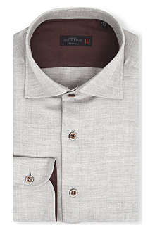 CORNELIANI Slim-fit patch elbow shirt