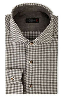 CORNELIANI Brushed-cotton gingham shirt