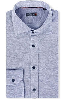 CORNELIANI Spread-collar single-cuff cotton shirt