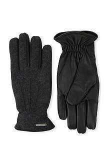 CORNELIANI Panelled gloves