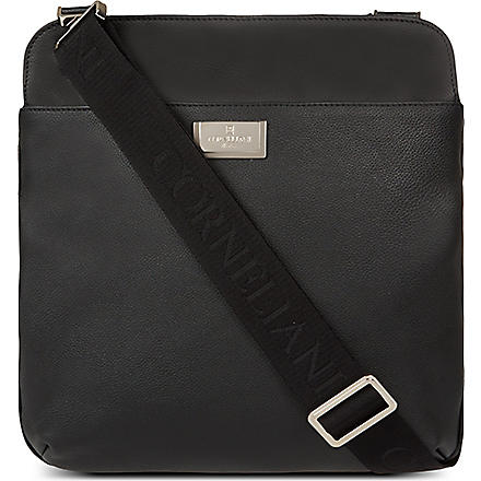 CORNELIANI Leather pouch bag (Black