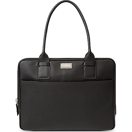 CORNELIANI Soft leather briefcase (Black