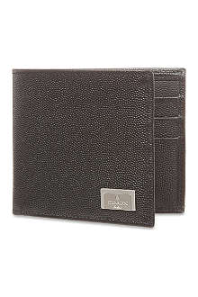 CORNELIANI Grained leather wallet