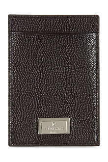 CORNELIANI Embossed calfskin card case