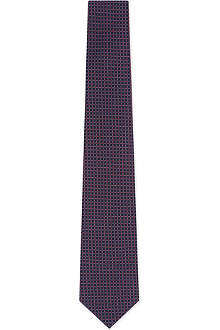 CORNELIANI Tile pattern tie