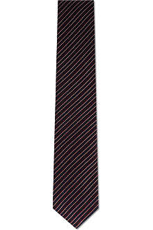 CORNELIANI Textured stripe silk tie