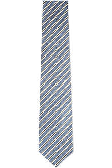CORNELIANI Guarded stripe silk tie