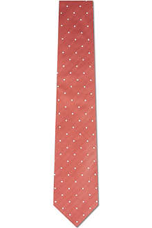 CORNELIANI Dotted silk-cotton tie