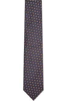 CORNELIANI Circle pattern silk tie