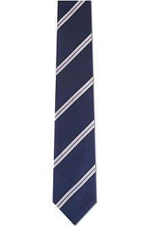 CORNELIANI Ribbed pattern silk tie