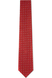 CORNELIANI Textured silk tie