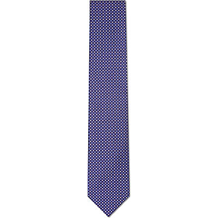 CORNELIANI Patterned silk tie (Multi