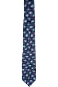 CORNELIANI Mini squares silk tie