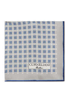 CORNELIANI Patterned silk pocket square