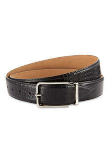 CORNELIANI Crocodile embossed leather belt