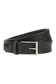 CORNELIANI Woven leather belt