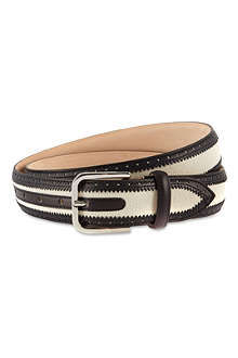 CORNELIANI Trimmed leather belt
