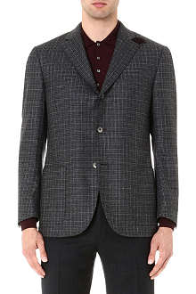 CORNELIANI Checked elbow-patch jacket