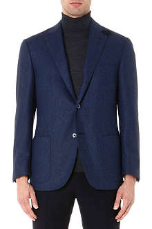 CORNELIANI Herringbone elbow-patch jacket