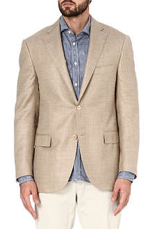 CORNELIANI Single-breasted wool-blend jacket