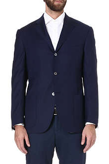 CORNELIANI Half-lined single-breasted wool jacket