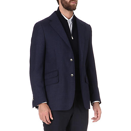 CORNELIANI Detachable-insert blazer (Blue