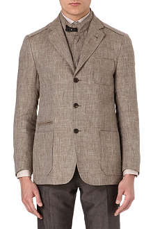 CORNELIANI Linen-blend detachable-insert blazer