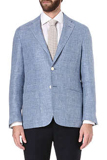 CORNELIANI Single-breasted basket weave jacket