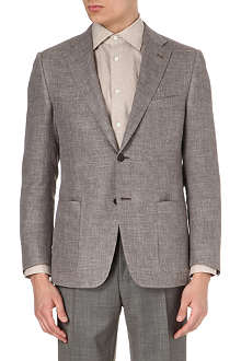 CORNELIANI Single-breasted twill suit jacket