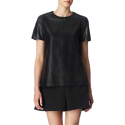 GIVENCHY Leather top (Black