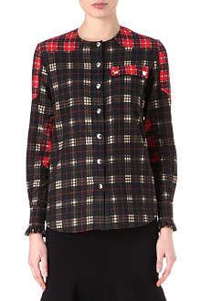 GIVENCHY Mixed plaid shirt