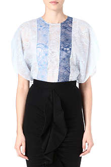 GIVENCHY Lace panelled top