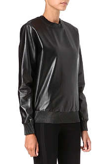 GIVENCHY Nappa leather sweatshirt
