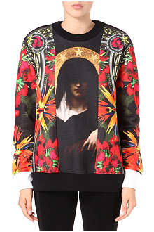 GIVENCHY Madonna floral patch sweatshirt