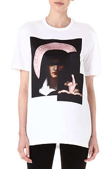 GIVENCHY Satin and cotton Madonna t-shirt