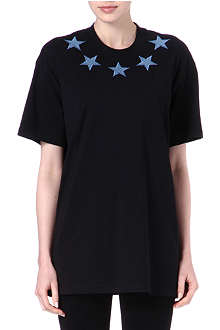 GIVENCHY Denim-star unisex t-shirt