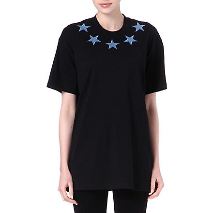 GIVENCHY Denim-star unisex t-shirt (Black