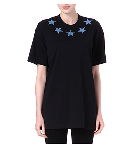 GIVENCHY Denim-star unisex t-shirt (Black