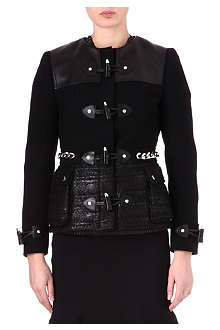 GIVENCHY Herringbone toggle jacket