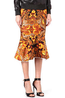 GIVENCHY Flame-print silk skirt