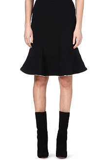 GIVENCHY Ruffle hem zip-trim skirt