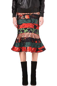GIVENCHY Mixed-print midi skirt
