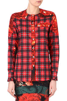 GIVENCHY Checked rose shirt